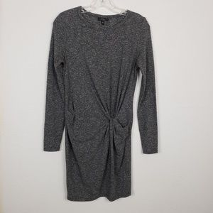 Topshop | Gray knot dress